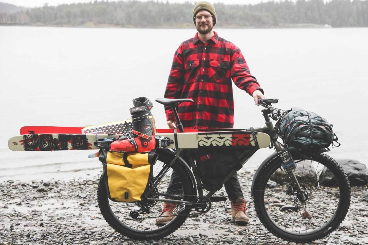 bikepacking topptur sykkel ski