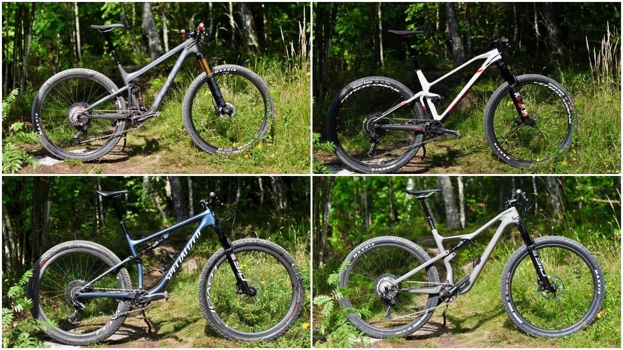 Sykkeltest: Cannondale Scalpel SE 1, Specialized Epic Evo Expert, Pivot Mach 4 SL XT/XTR og Mondraker F Podium DC R