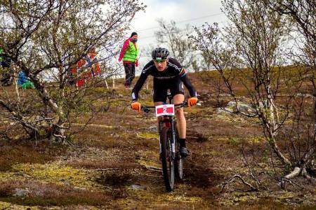 Lars Granberg fikk sitt comeback på Skaidi etter skadene han pådro seg da han ble påkjørt av en bil under trening i juli. Foto: Ziggy/Reklamehuset Nord