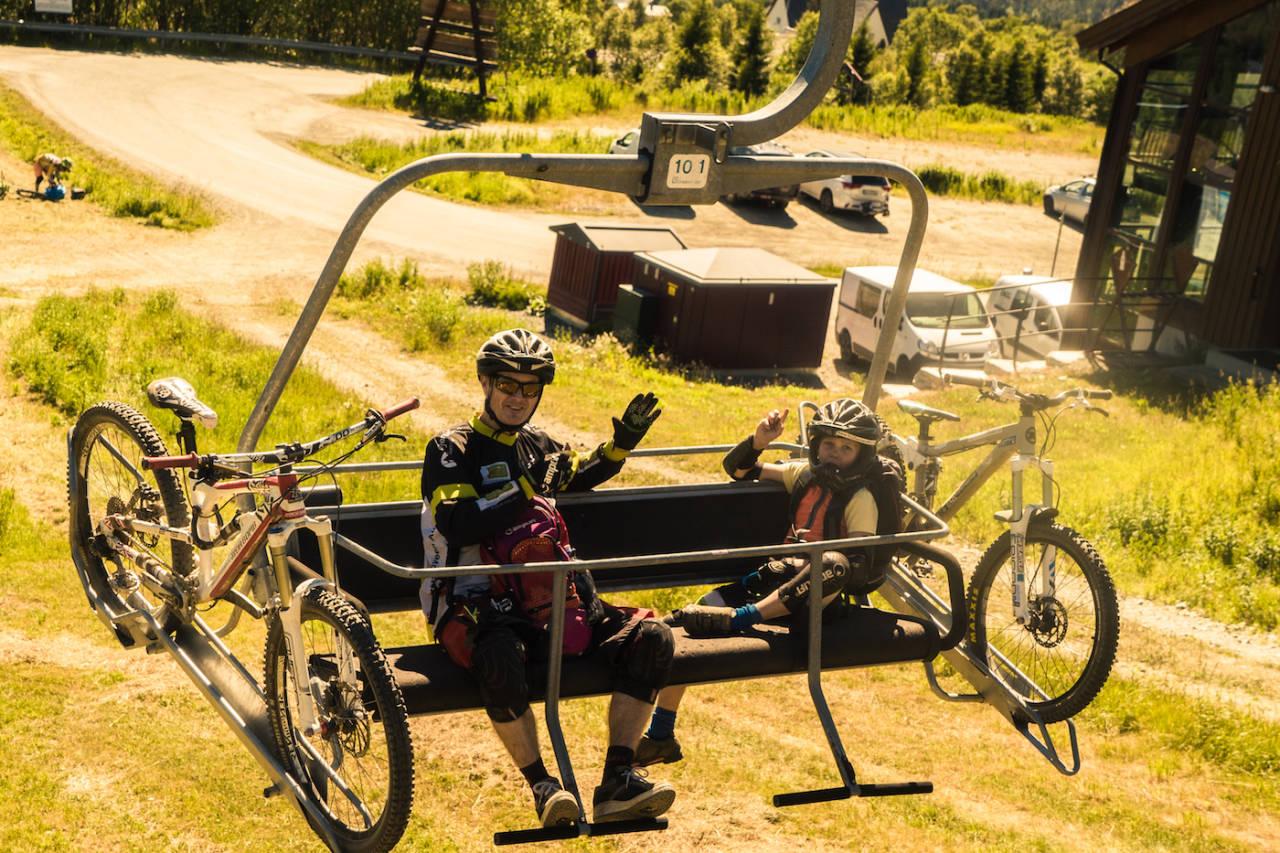 Stor glede da Vangslia igjen åpnet for syklister i helga. Foto: Patrick Oldenborg