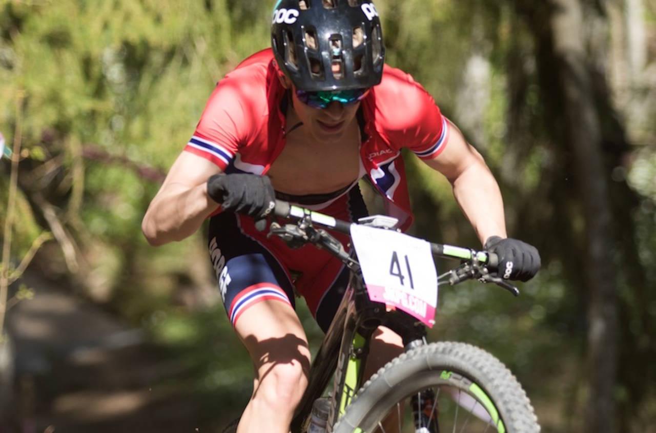 Tobias Halland Johannessen ble beste nordiske rytter i juniorguttas rundbaneritt i EM. Foto: Bengt Ove Sannes