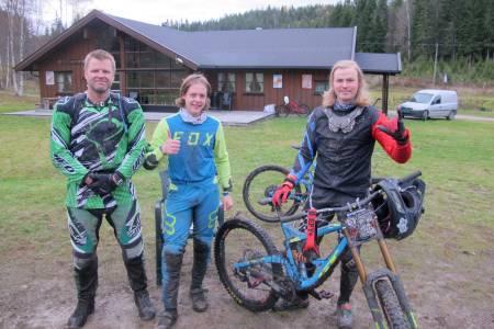 Robert Goodwin (til venstre) ble nummer tre i Kampen om Kjerringa, bak Sindre Rustan (midten) og Brage Vestavik på førsteplass. Foto: Petter Wilhelmsen