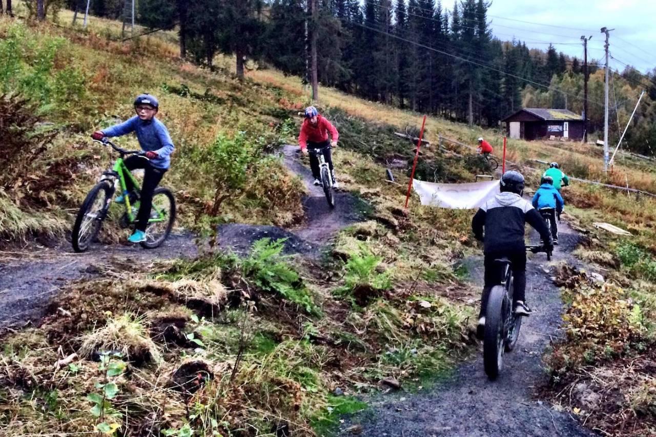 Flytstiene i Ankenes alpinanlegg er allerede i flittig bruk. Enda mer liv blir det når heisen kommer i gang på sommerstid. Foto: Per Bakkejord