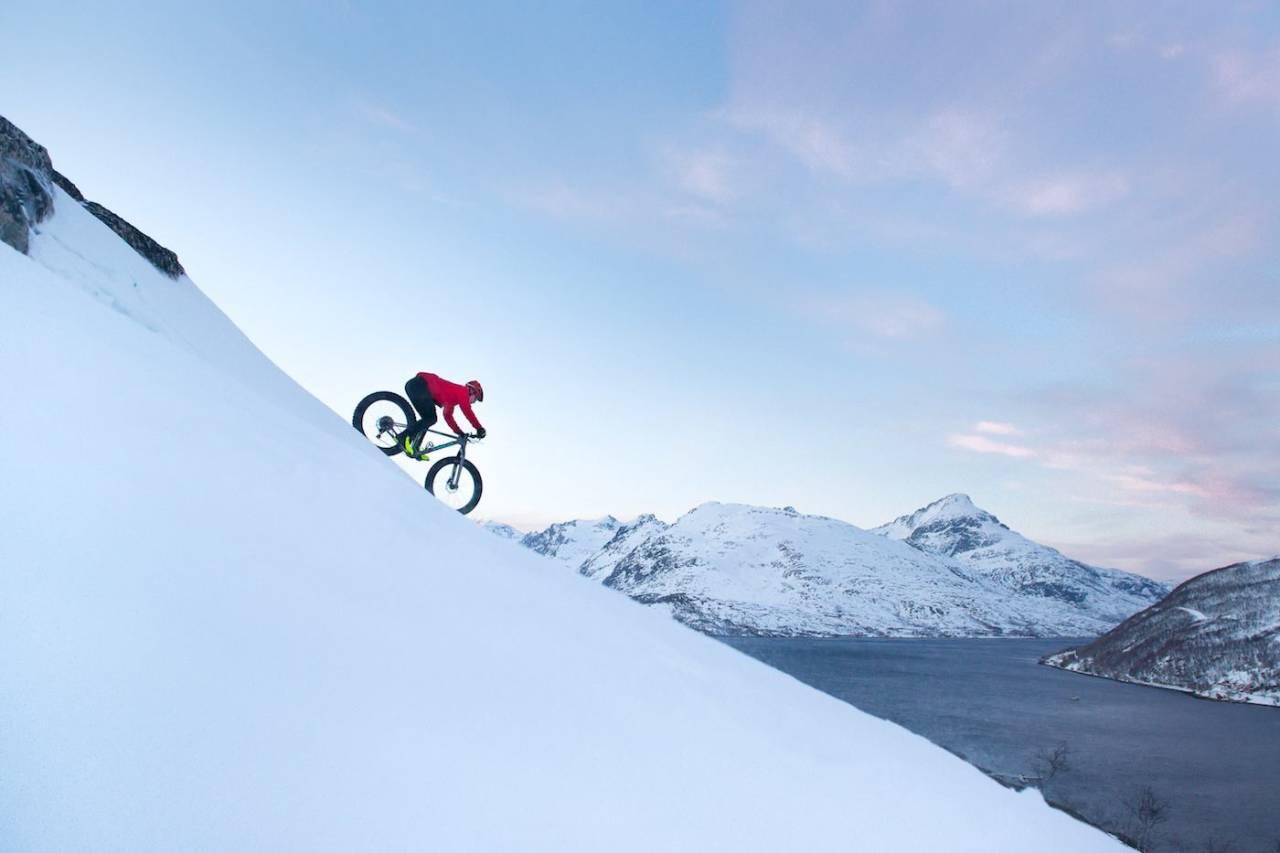 - Det var en vanvittig nedkjøring fra fjellet, forteller Pål Jakobsen om rundturen på Kvaløya. Foto: Pål Jakobsen