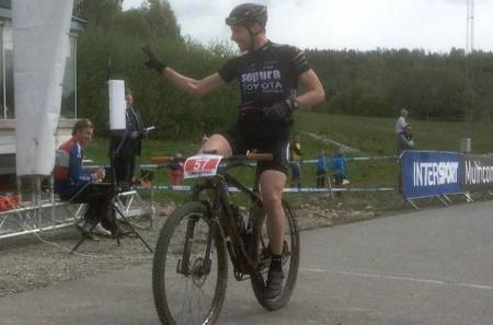 Svenske Fredrik Edin fra Sepura Toyota racing with Birk vant Norgescupklassen i Montebellorittet. Foto: Arrangøren
