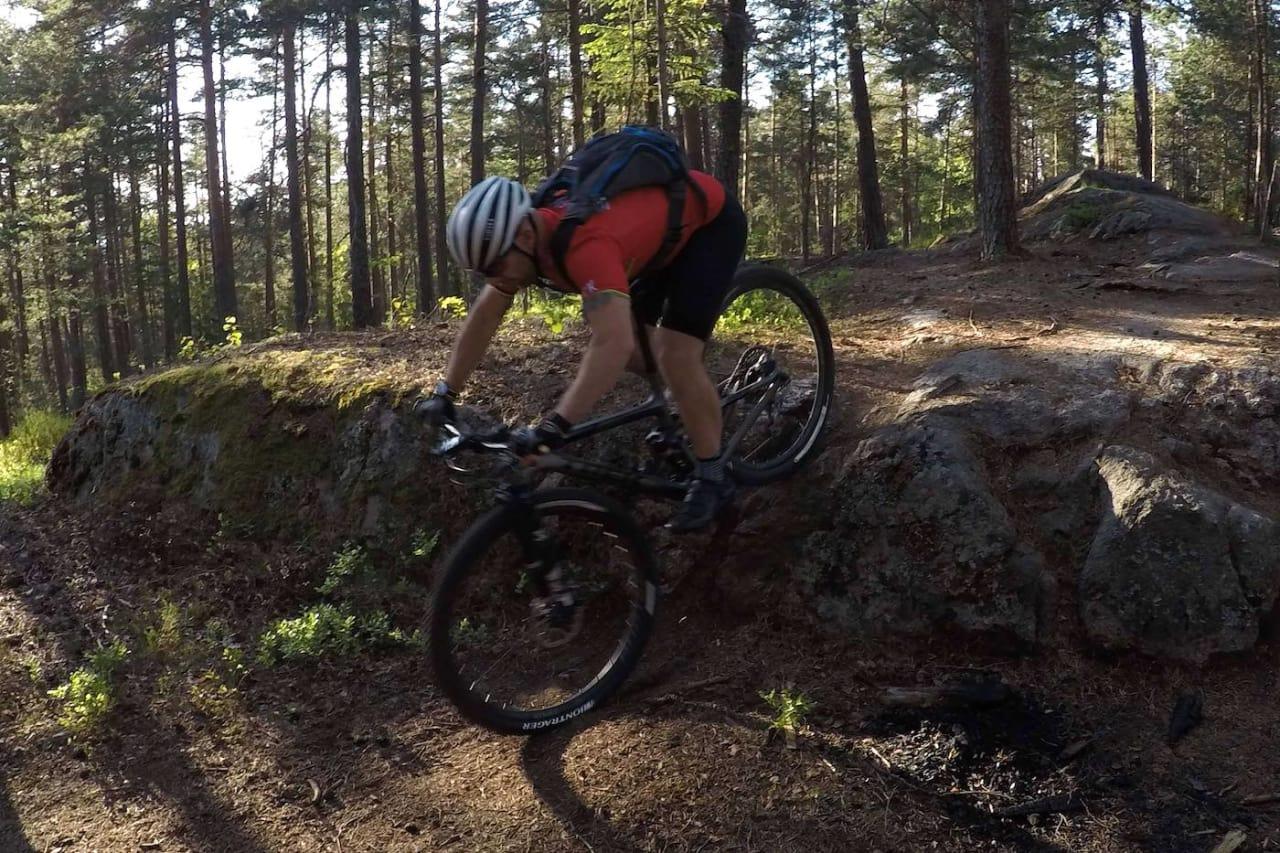 Anders Korsmo syklet partier på tirsdagens trening som han aldri hadde drømt om å takle. Foto: Ole Christian Fagerli