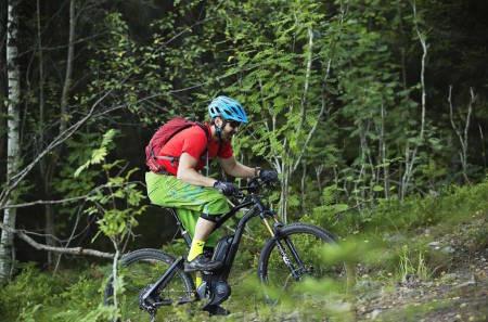 El-sykkel gjør motbakker til en drøm, men inntil videre er det ikke lov å sykle med slike på sti i utmark. Nå kan loven bli endret. Foto: Kristoffer Kippernes