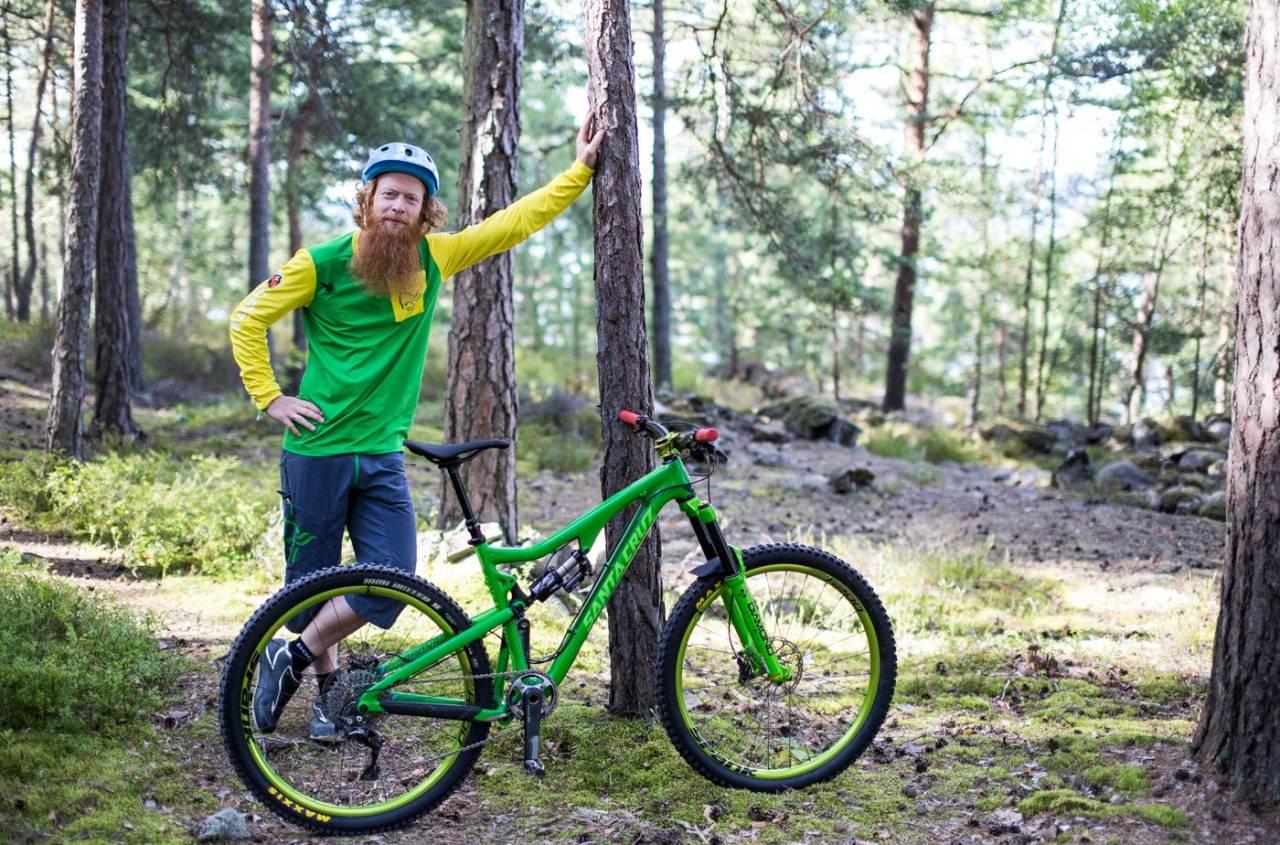Aslak Mørstad er hovedinstruktør på Meridas terrengsykkelskole for voksne, som kjøres for første gang i juni 2016. Foto: Christian Nerdrum