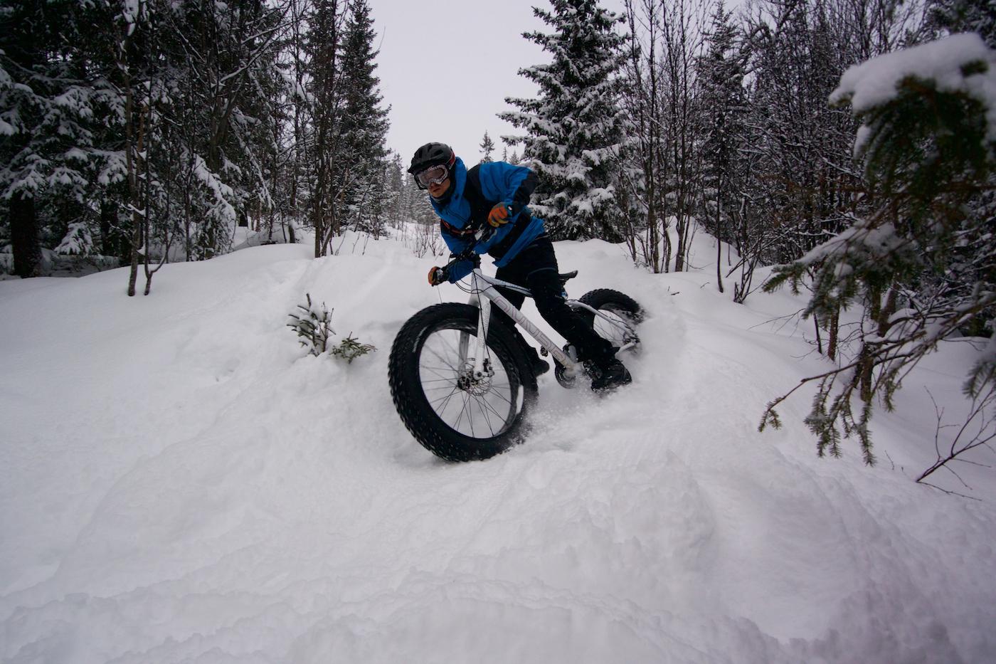 Tim Glazebrook på vei ned Trysilfjellet. Foto: Erik Olsson