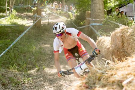 Petter Fagerhaug er en av fire ryttere som er tatt ut til verdenscuprunden i Albstadt kommende helg og Nove Mesto helga etter. Her fra verdenscuprunden i Albstadt i fjor. Foto: Bengt Ove Sannes