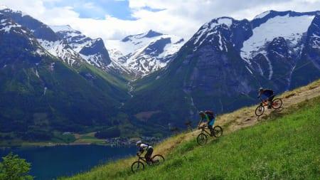 POSTKORT: Omgivelsene rundt Stryn kan få enhver turist til å sikle. (foto: Tommy Aslaksen)