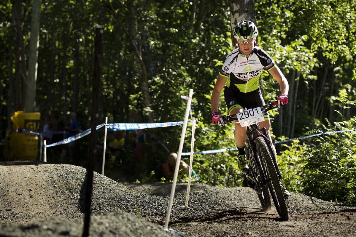 DRONNINGA: Gunn-Rita Dahle Flesjå viste nok en gang at hun er landets beste kvinnelige rundbanesyklist.