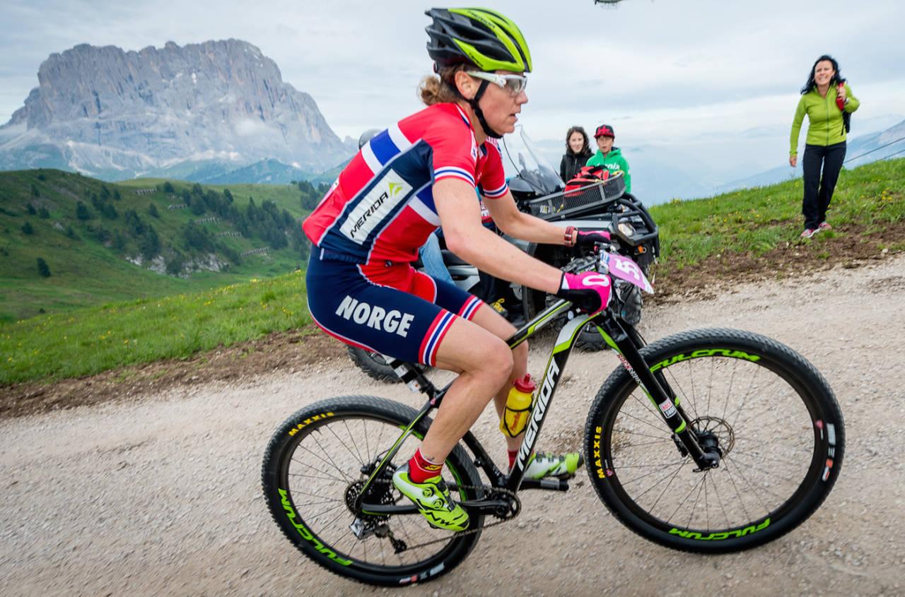 Gunn-Rita Dahle Flesjå fikk stang ut i OL med en 10.plass, men hun ga det hun hadde. Foto: Kuestenbrueck/NCF