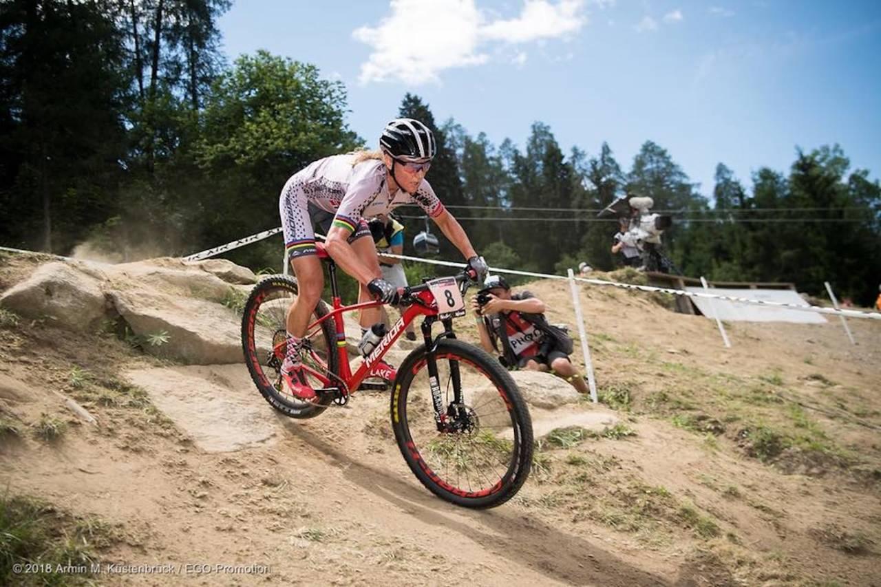 Gunn-Rita Dahle Flesjå kom på femteplass i helgas verdenscuprunde i Val di Sole. Foto: Armin Küstenbrück/ Team Merida Gunn-Rita