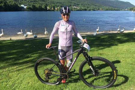 Gunn-Rita Dahle Flesjå vant NM rundbane på Konnerud. Foto: Team Merida Gunn Rita