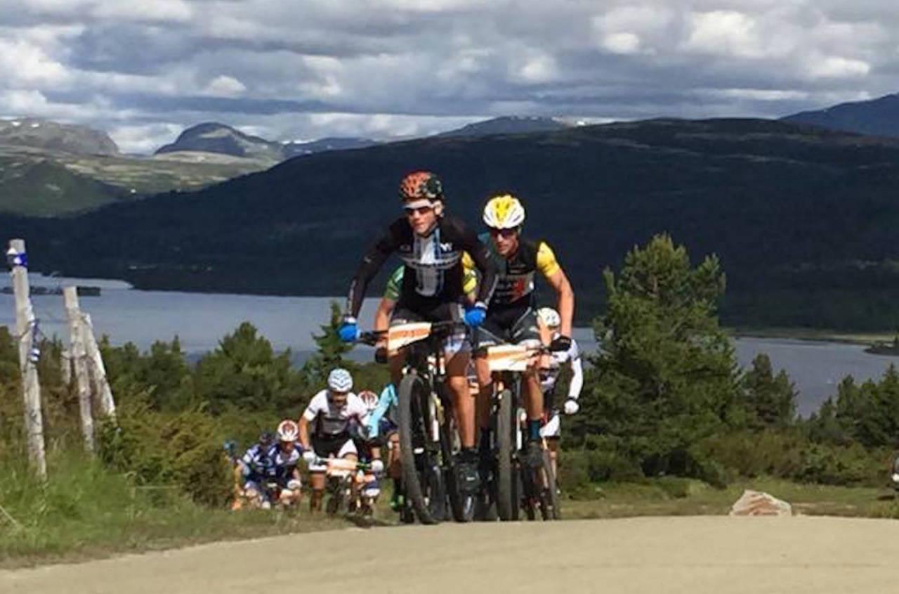 Carl Fredrik Hagen ledet feltet fra start. Foto: Fredrik Weikle/Furusjøen Rundt