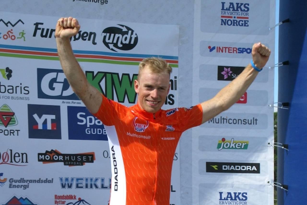 Ole Hem vant Furusjøen Rundt rittet med over fire og et halvt minutts margin og leder også Norgescupen sammenlagt. Foto: Ingrid Lægreid/NCF
