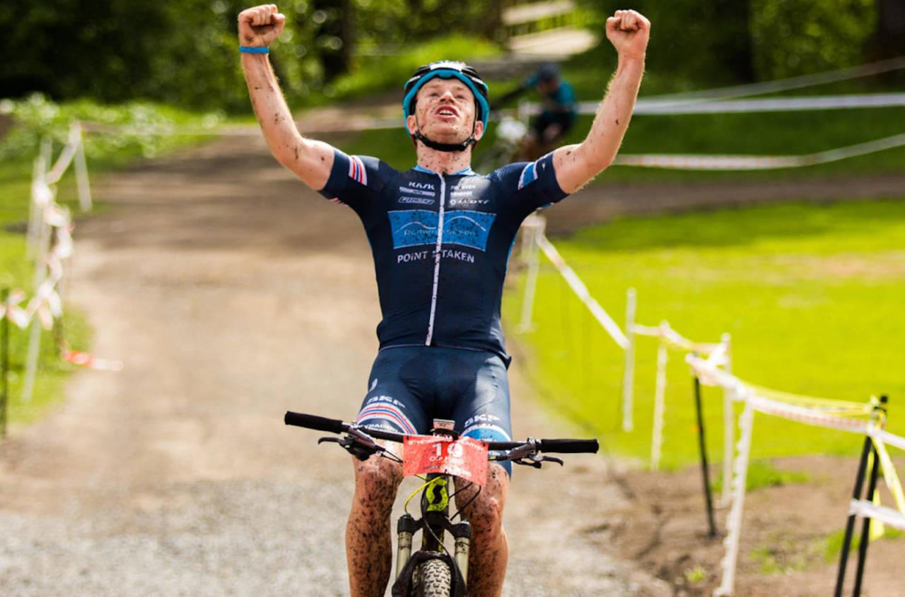 Ole Hem tok sin første seier som senior i bransjens mest prestisjefulle norske terrengsykkelritt: Terrengsykkelrittet. Foto: Snorre Veggan