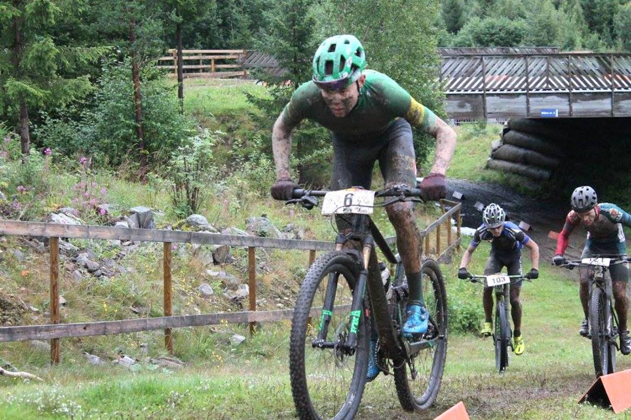 Erik Hægstad er en av utfordrerne til NM-gullet. Her fra NM-løypa under Norgescupen i august. Foto: Guro Øverbye