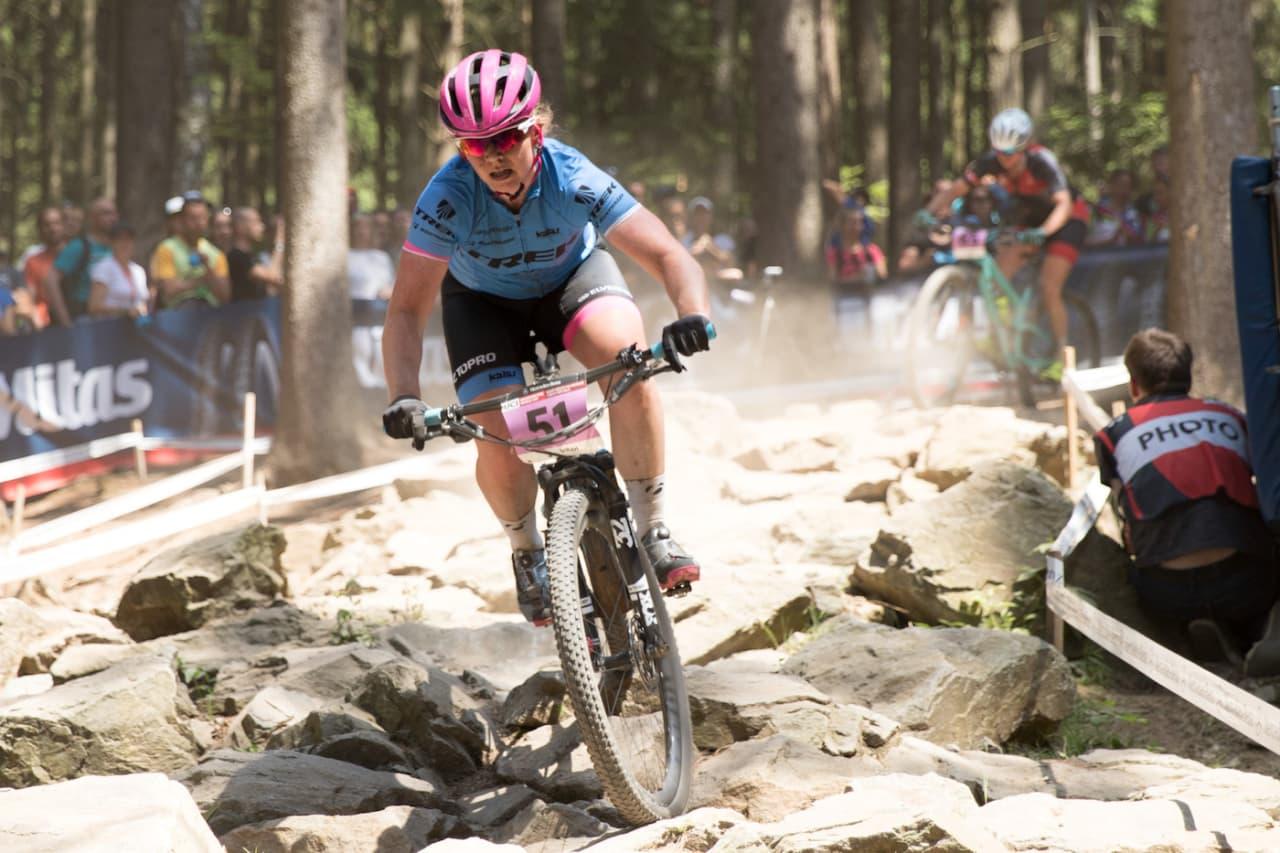 Elisabeth Sveum er fornøyd med både gjennomføring og resultat på sitt andre verdenscupritt for sesongen. Foto: Bengt Ove Sannes