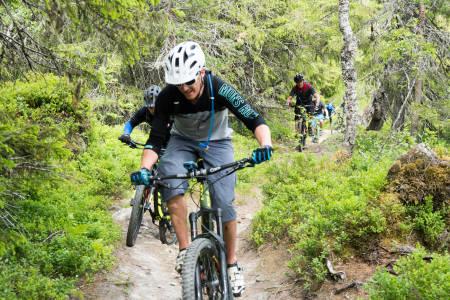 Alle vil ha sti: I år kom det over dobbelt så mange på lørdagen under Trondheim stisykkelfestival og seks ganger flere på fredagen. Foto: Eirik Volent