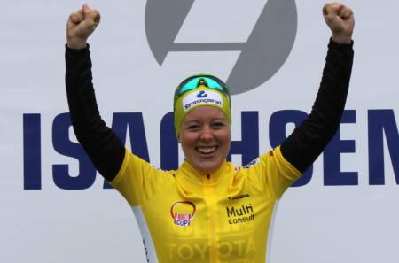 Ingrid Sofie Bøe Jacobsen vant temporittet på Darbu, som var første runde i Norgescup rundbane 2016. Foto: NCF