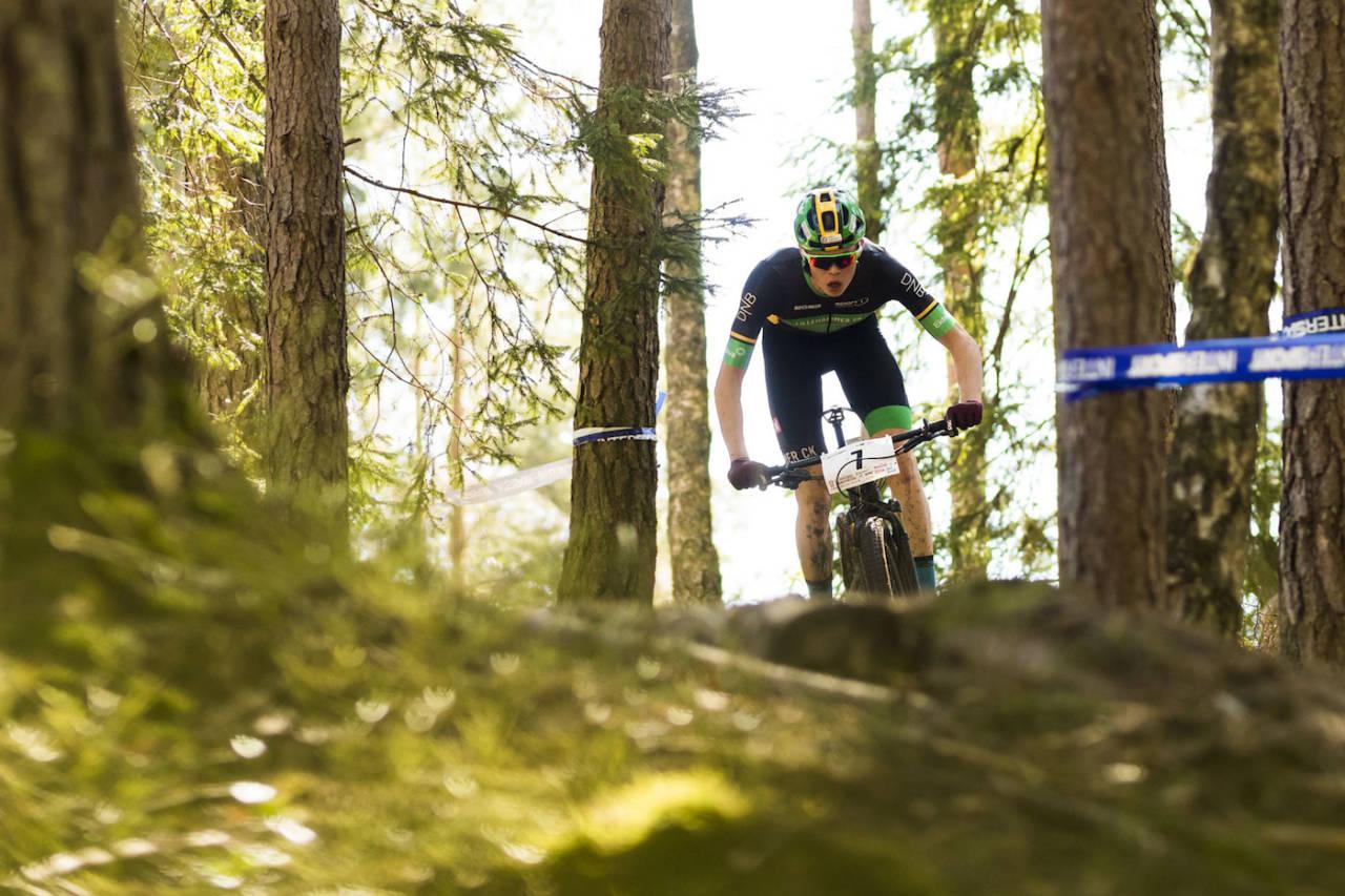 Erik Hægstad var skogens konge under kortbanerittet som var andre etappe i tredagersrittet med UCI-status S1. Foto: Snorre Veggan