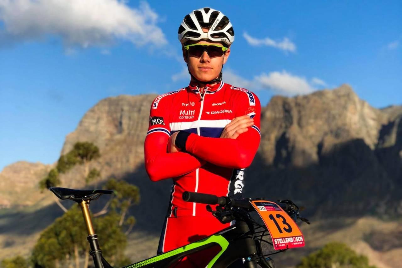 Martin Siggerud før start på verdenscupåpningen i Stellenbosch, Sør-Afrika, i helga. Foto: Privat