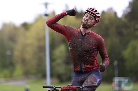 OLA KJØREN vant Terrengsykkelrittet 2015 med drøyt tre minutters margin. Foto: Snorre Veggan