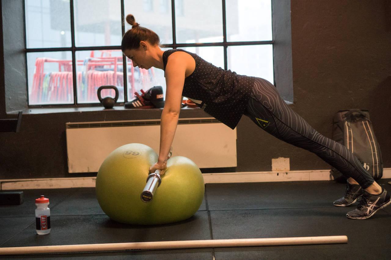 Joline Johansson, sammenlagtvinner av den svenske enduroserwien de to siste sesongene, bruker vinteren til å bygge et solid styrkegrunnlag. Foto: Knut Erik Haugen