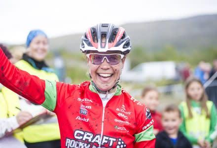 FØRST: Finske Pia Sundstedt vant den første utgaven av Skaidi Xtreme. Foto: skaidixtreme.no