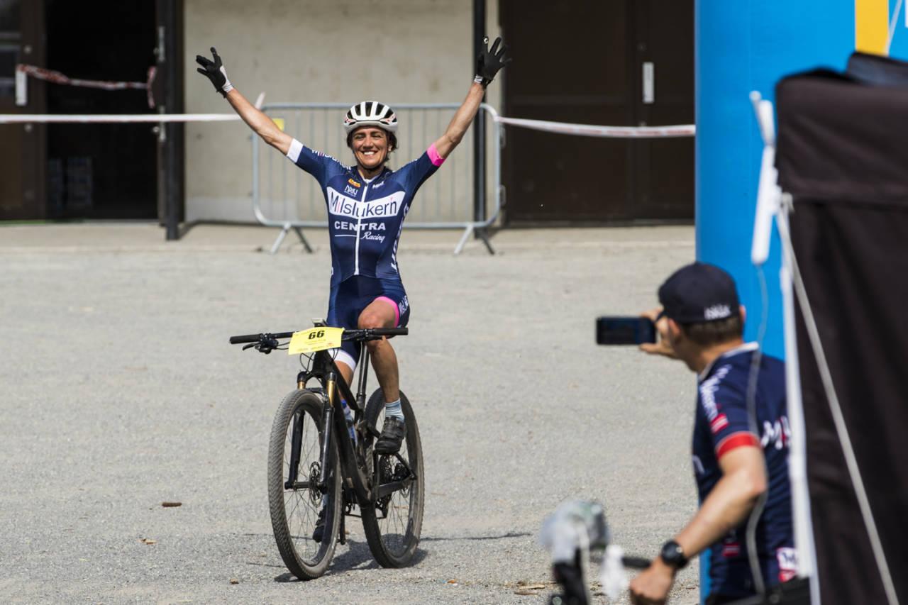 Sunniva Dring vant Terrengsykkelrittet 2018. Foto: Per-Eivind Syvertsen