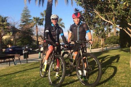 Kjell Karlsen og Thomas M. Bordersen sikter høyt i Andalucia Bike Race i år: Seier er det som duger. Foto: Privat