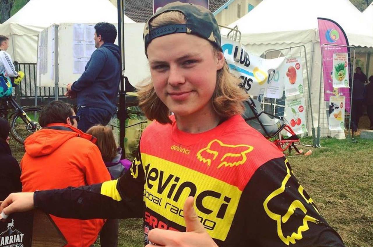 Brage Vestavik, som kjører for Devinci Global Racing, er førstereisgutt på Crankworx i Whistler, og har levert solid i de to første konkurransene. Foto: NCF