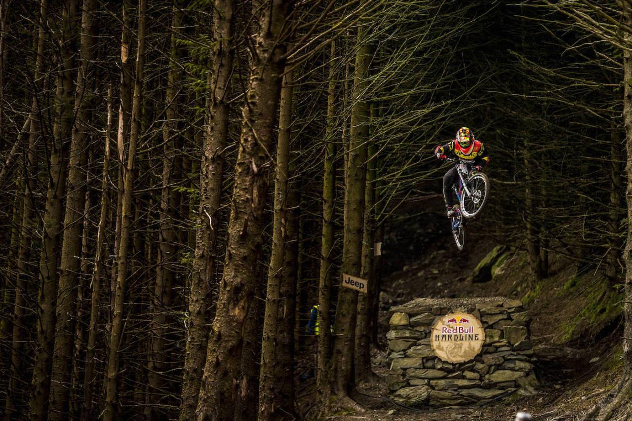 Brage Vestavik på Red Bull Hardline. Foto: Red Bull Content pool