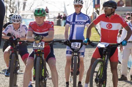 Petter Fagerhaug kjørte første etappe i EM-stafetten for Norge første uka i mai. Til helga får han sjansen til å kjøre for egen klubb i NC. Foto: Bengt Ove Sannes