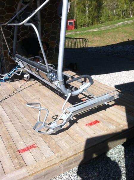HEISEN: Sluk oppovermeter med heisens komfort, sykkelstativene er montert og klar til avgang.Foto: Svenn Fjeldheim