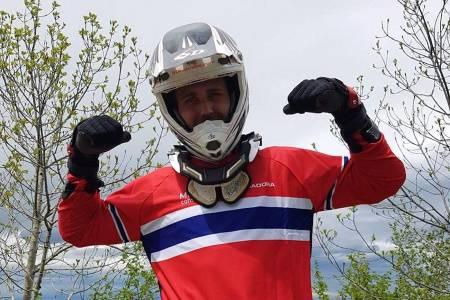 Isak Leivsson vant den tredje runden i den felles skandinaviske utforcupen i Hafjell. Foto: Bjørn Ballangrud