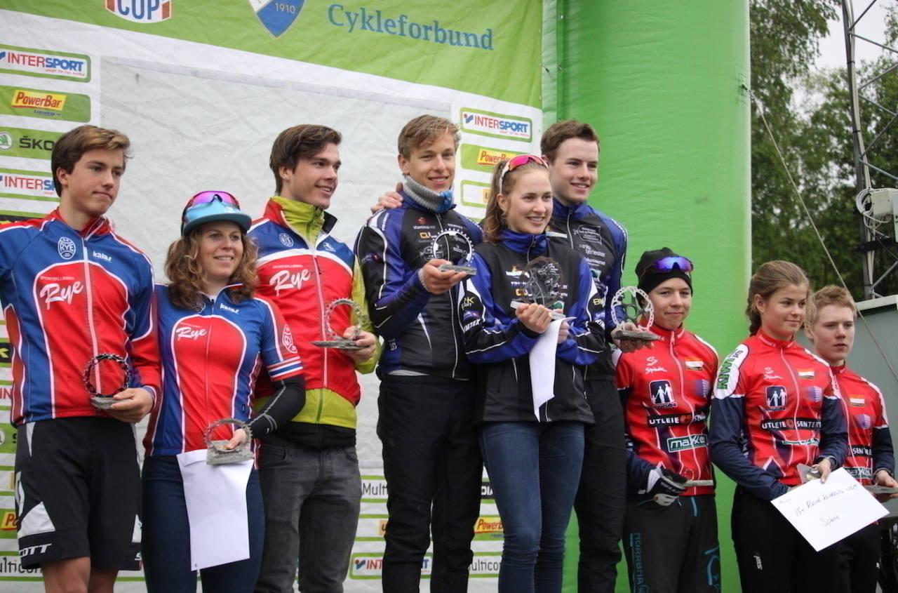 Soon CK tok seieren i den føste Norgescupstafetten. SK Rye ble nummer to og vertskapet Konnerud IL Sykkel tok den siste pallplassen. Foto: Cato Karbøl NCF