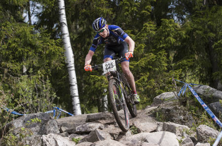 Martin Siggerud er tatt ut til EM i Italia 23.-26. juli. Her fra Rye Bike Festival i mai. Foto: SK Rye