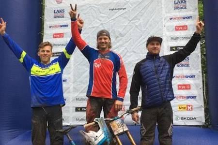 Henrik Myhrvold vant andre runde i Scandinavian Downhill Cup på Voss. Foto: NCF
