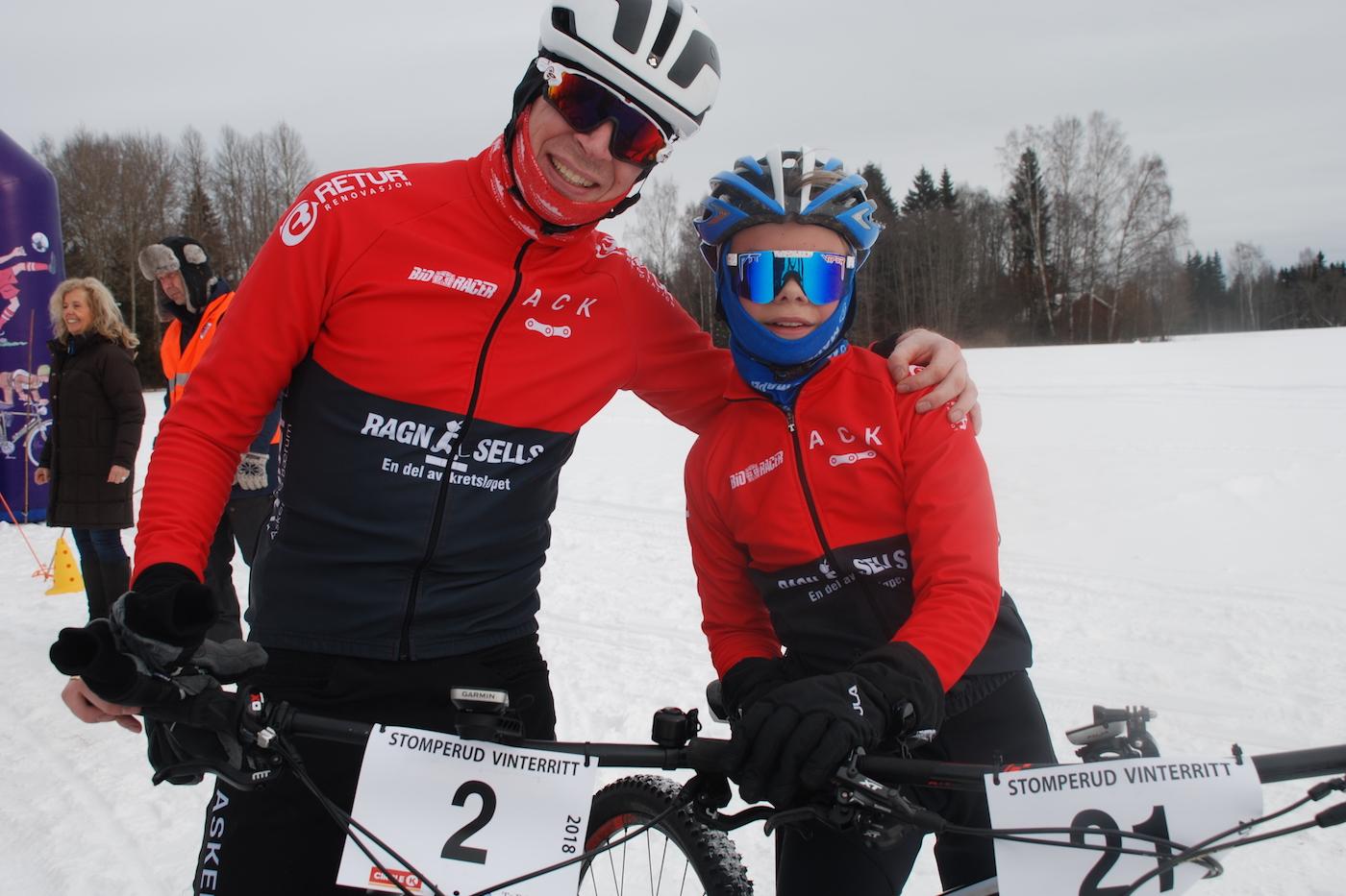Far og sønn Veslum fra Asker, Truls og Sebastian, markerte seg sterkt med henholdsvis tredje- og førsteplass. Foto: Jon Wiik