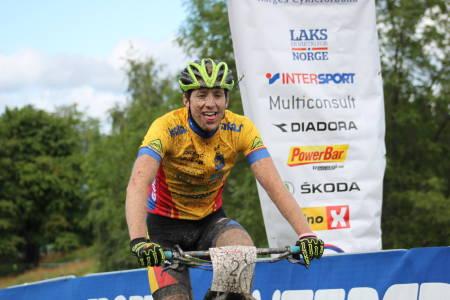Emil Linde vant Norgescuprunden i Trondheim med solid margin. Foto: NCF/Cato Karbøl