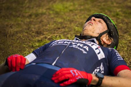 – Det er det hardeste jeg har gjort, sa veteranen Ole Christian Fagerli etter målgang. Foto: Snorre Veggan