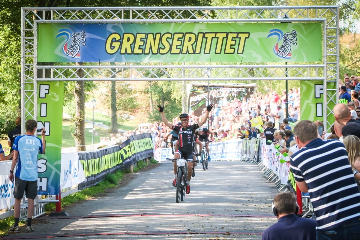 Mathias Wengelin vant Grenserittet for femte gang og var strålende fornøyd. Foto: Karianne Haga