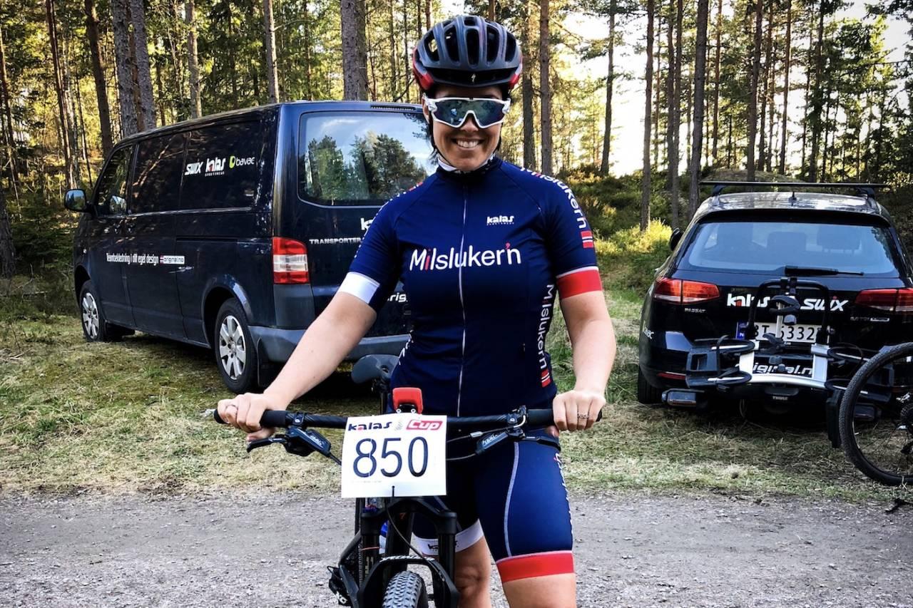 Kalas Cup 15. august blir en del av spissingen mot UltraBirken for Team Terrengsykkels Kristin Bye Weyer-Larsen. Foto: Anette Røssum Bastnes