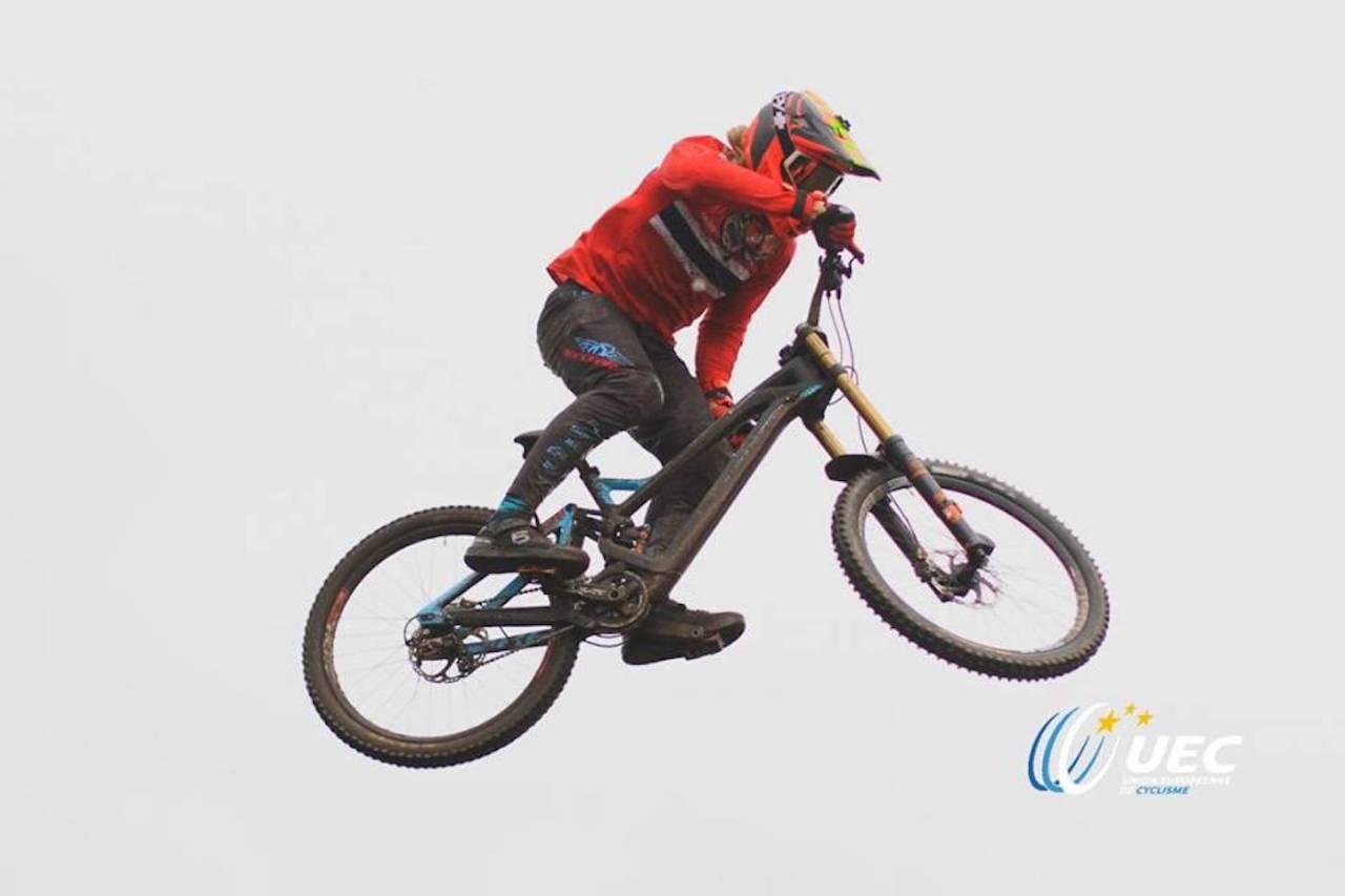 Brage Vestavik ble blant de topp 30 i dagens seeding under utfor-EM i Portugal. Finalen går i morgen klokka Foto: Union Européenne de Cyclisme