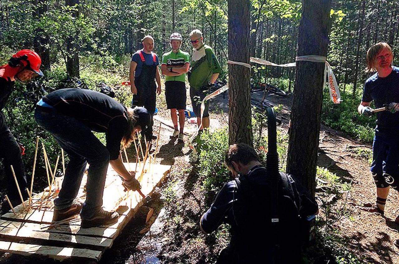 NOTS Oslo og Omegn arrangerer stibyggercamp i Skullerudåsen helga 17.-19. juni. Foto: NOTS Oslo og Omegn