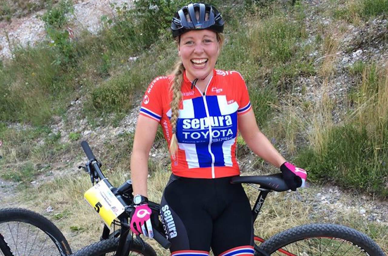Ingrid Sofie Bøe Jacobsen tok sølv i sprinten under VM i Andorra i september. Foto: Privat