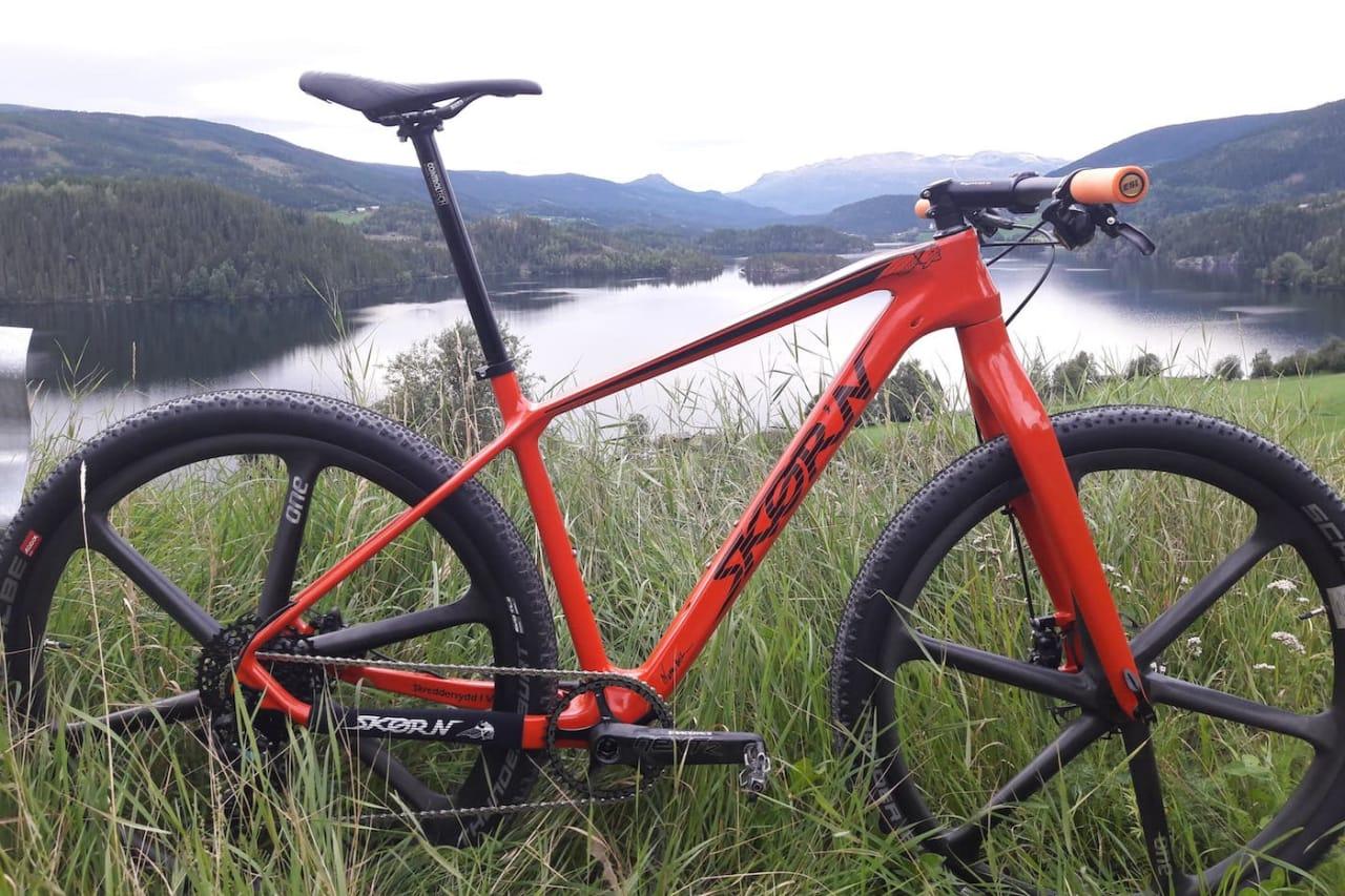 Med denne sykkelen med totalvekt på 7,7 kilo skal Frederik Wilmann vinne Birkebeinerrittet 25. august. Foto: Wubbo Boiten